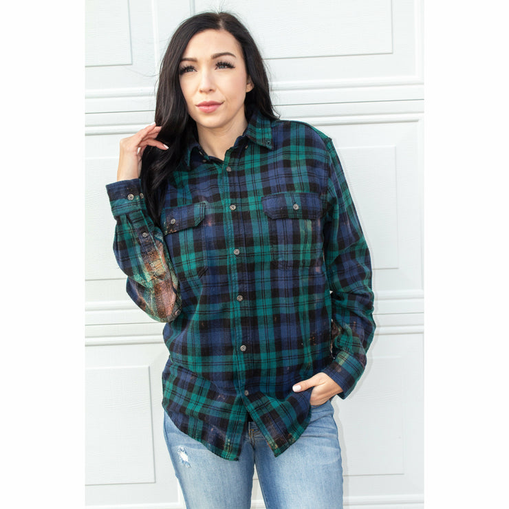 Plaid Cactus Flannel