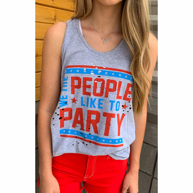 we the people distressed tank