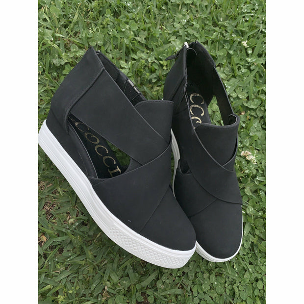 PeekaBootie Wedge Black