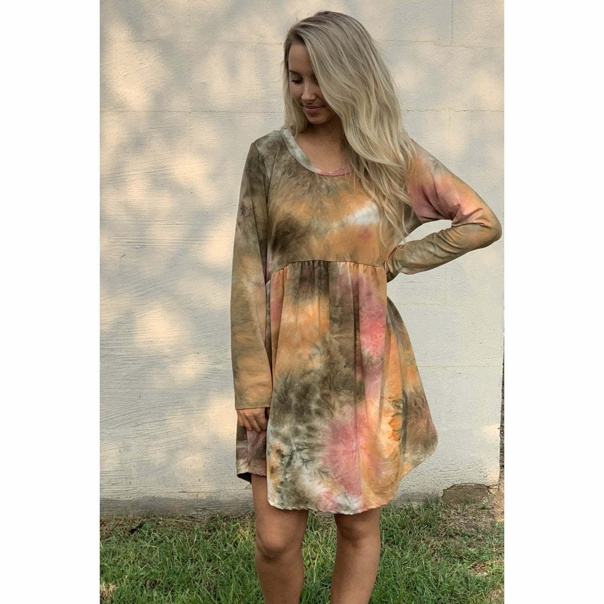 Fall in tie dye Dress (regular & plus)