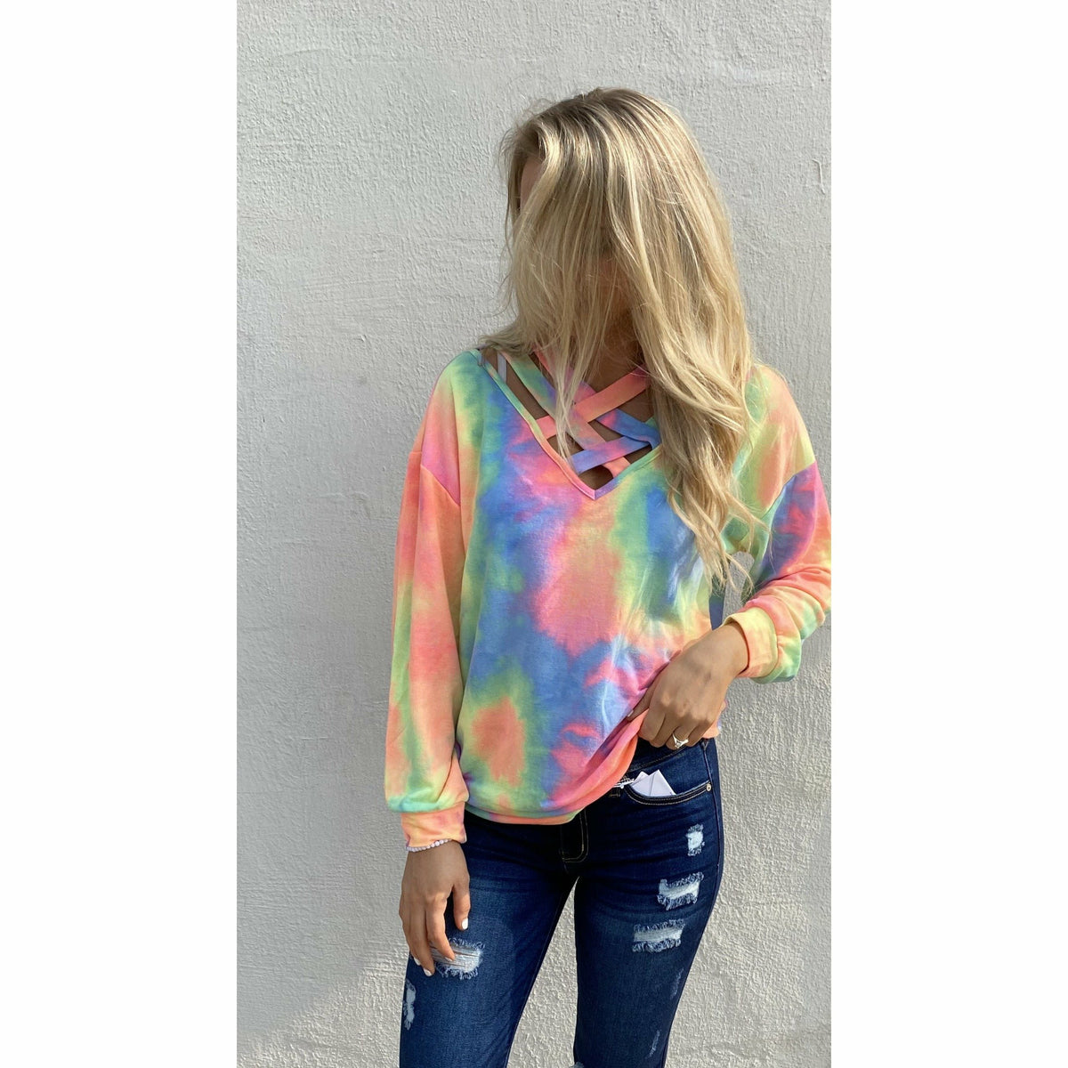 Dating Dream Criss Cross Longsleeve top
