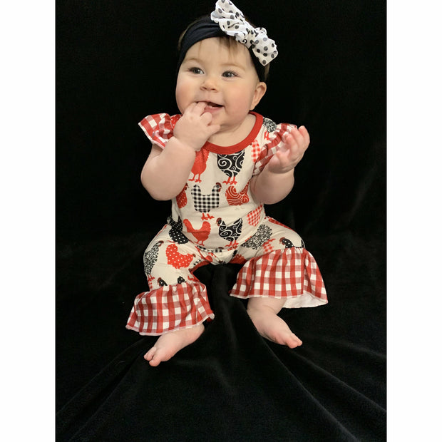 Chicken Little Girls Romper