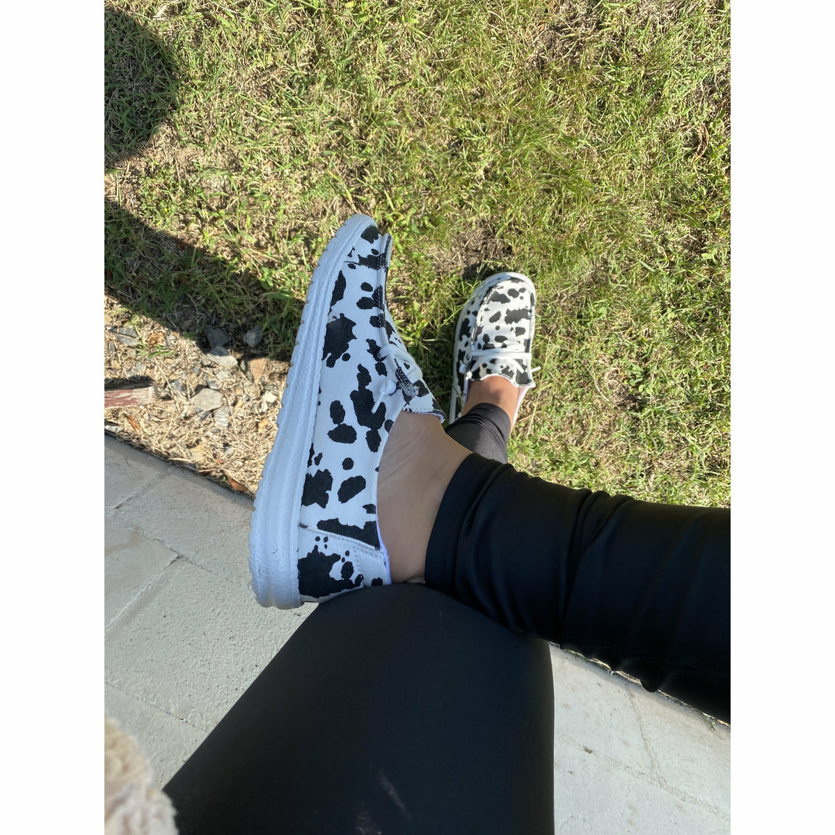 Holy Cow print  Slip on Shoe