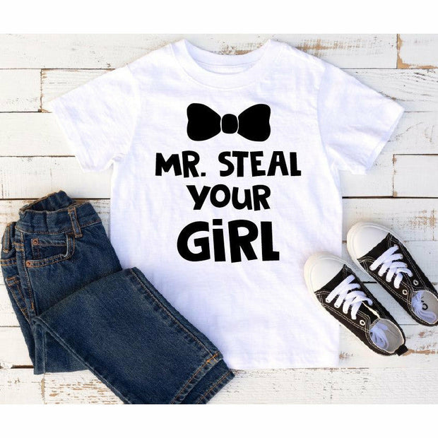Mr. Steal kids tee