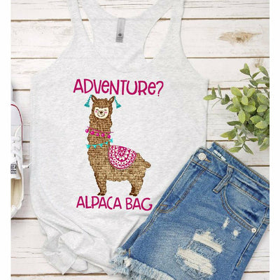 Adventure? Alpaca Bag Tank or tee