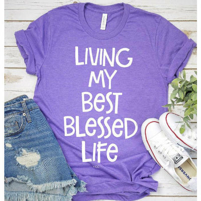 living my best blessed life tee