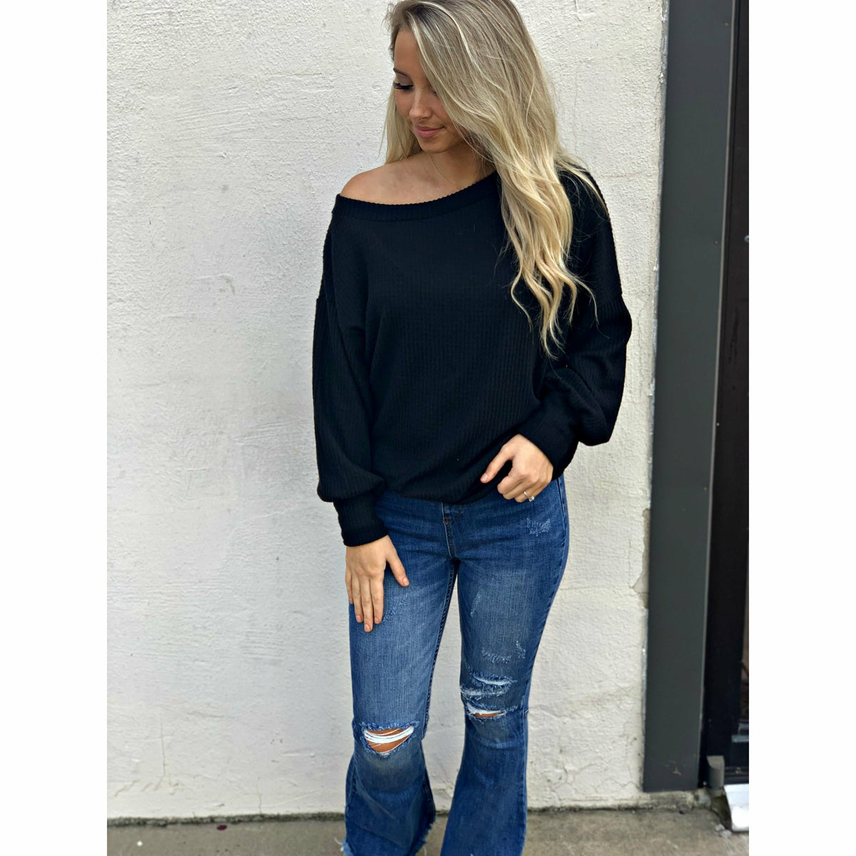 Soft Boatneck  Sweatshirt
