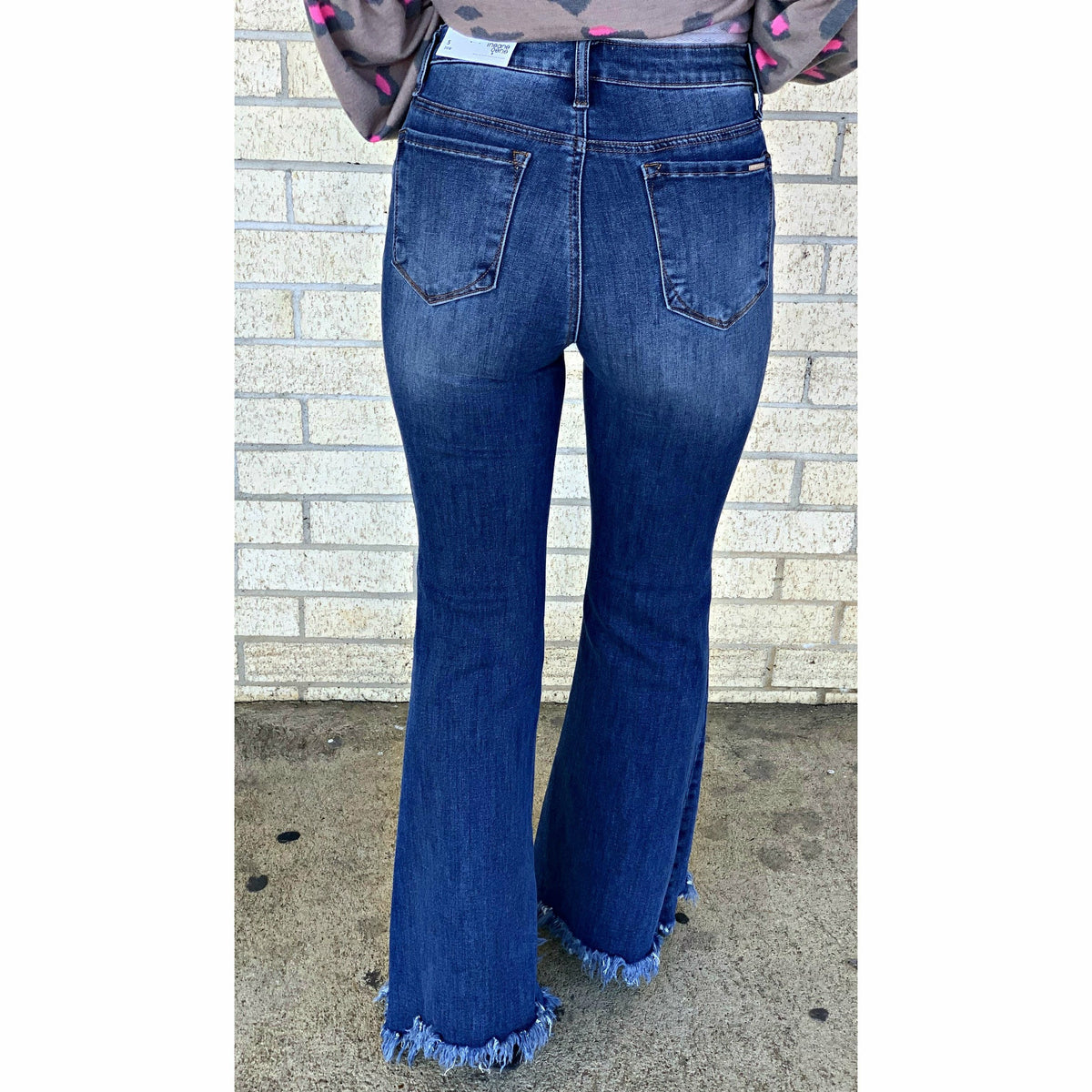 Demi Insane Frayed Flare Jeans