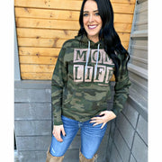 Mom life Camo Hoodie (rose gold ink)
