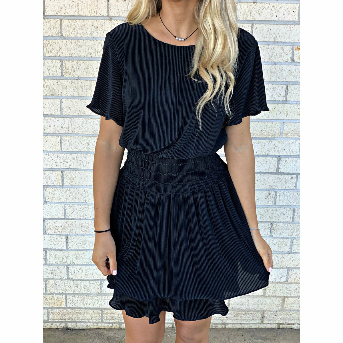 Bella Black Stretch Dress