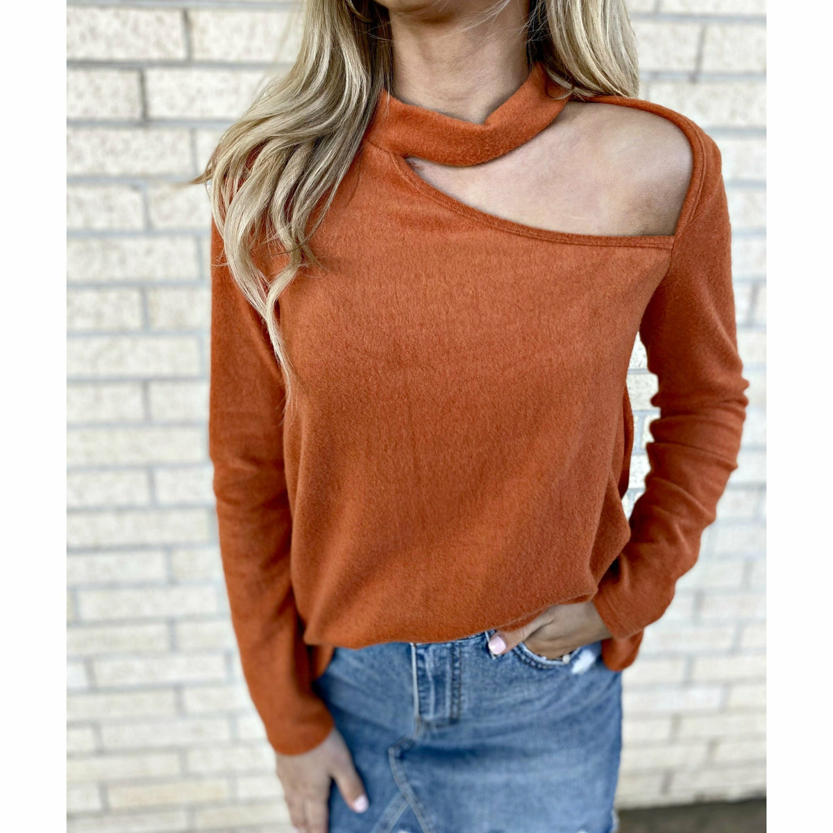 Date Night Soft Orange top