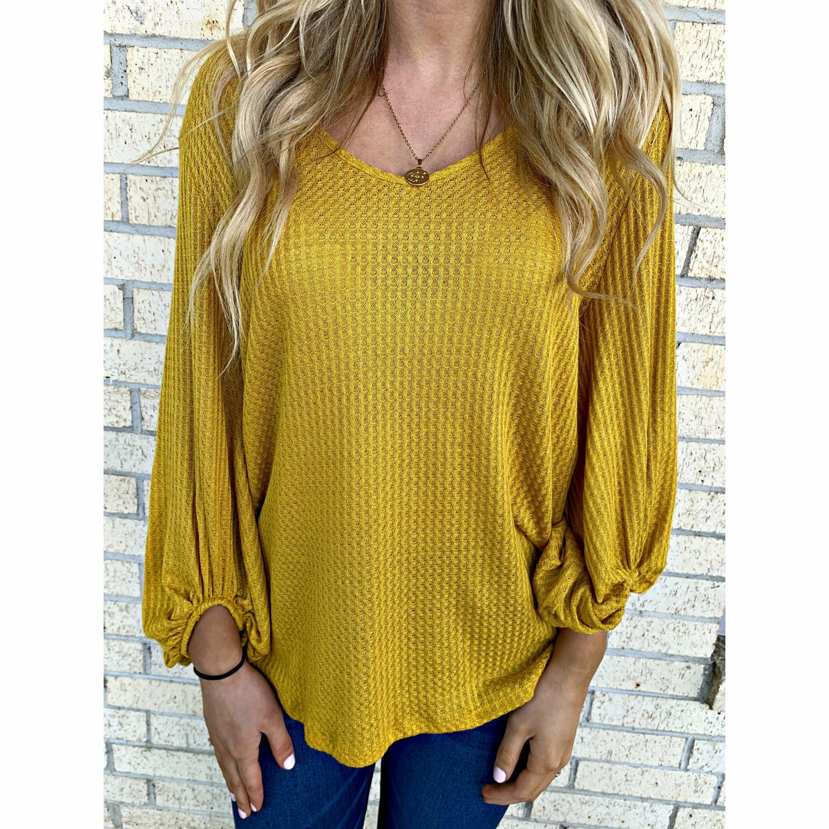 Basic Waffle Knit Light Top (4 colors)