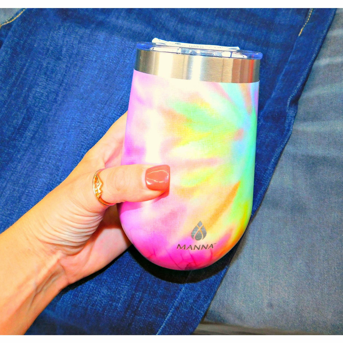 Tie Dye Stemless Wine Tumbler (4 colors)