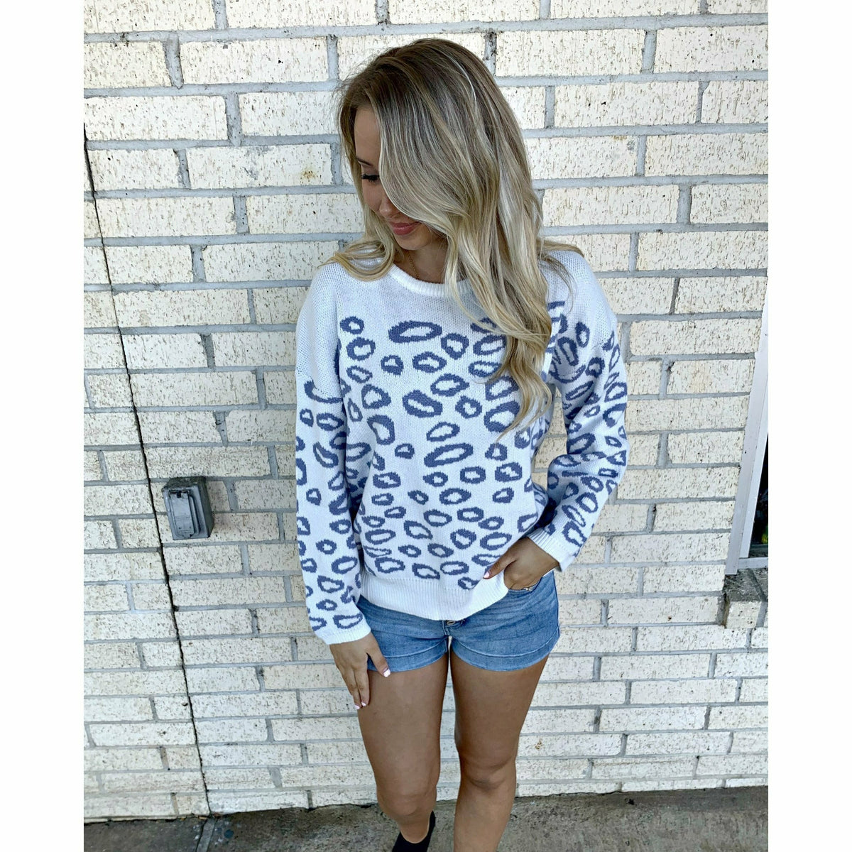 Snow Leopard Softest Sweater
