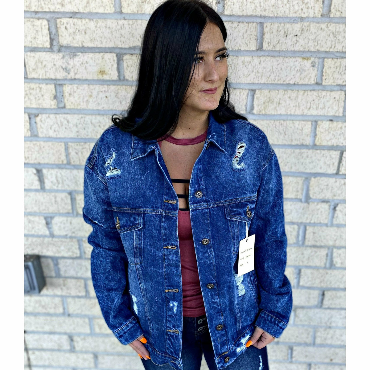 Allie Dark Wash Jean Jacket