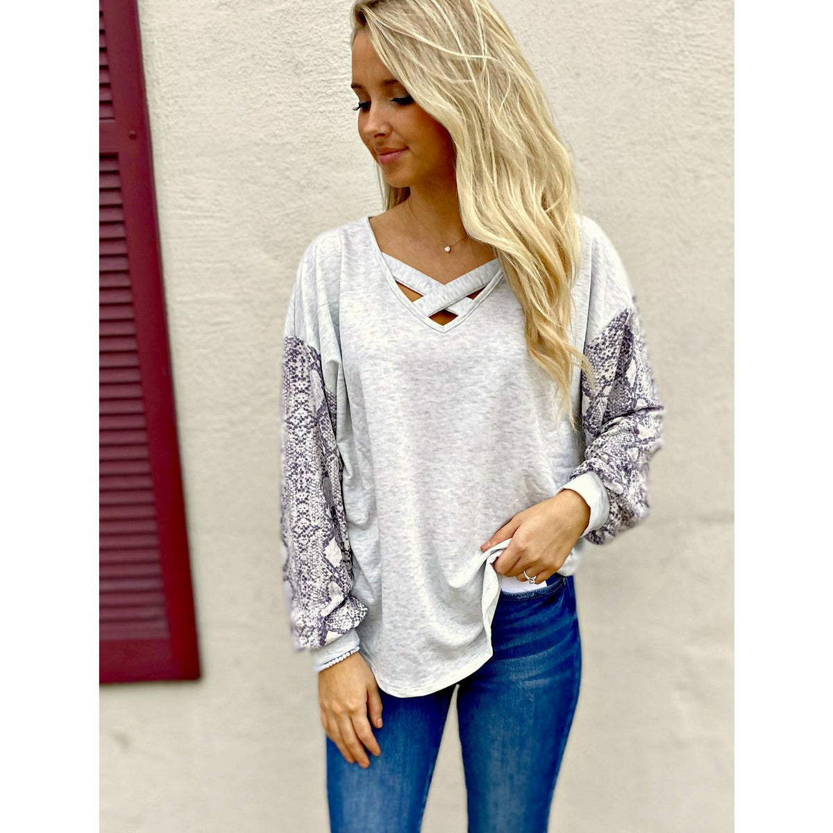 Criss Cross Date Night Top