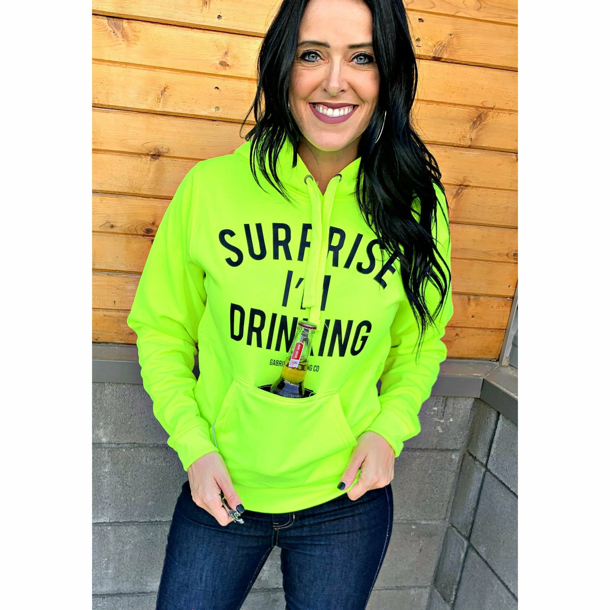 NEON yellow surprise hoodie limited!