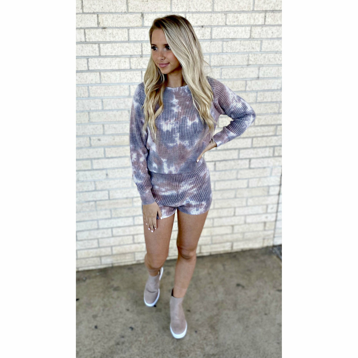 Mallory 2 Piece Tie Dye Soft Knit Set