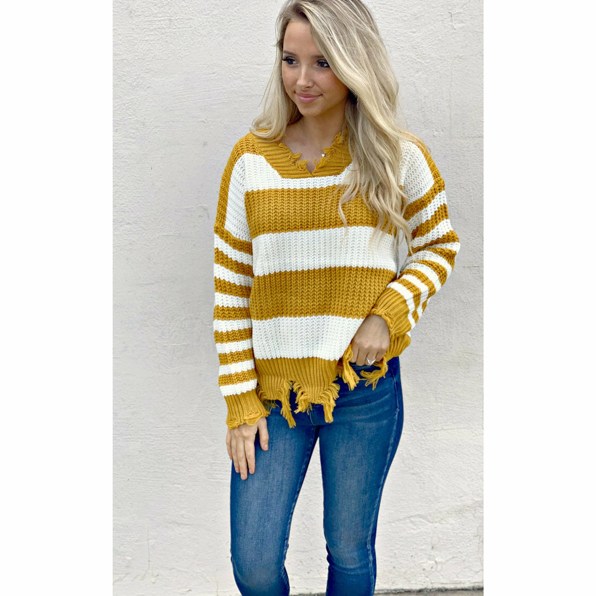 Mustard Stripe Dandy Sweater