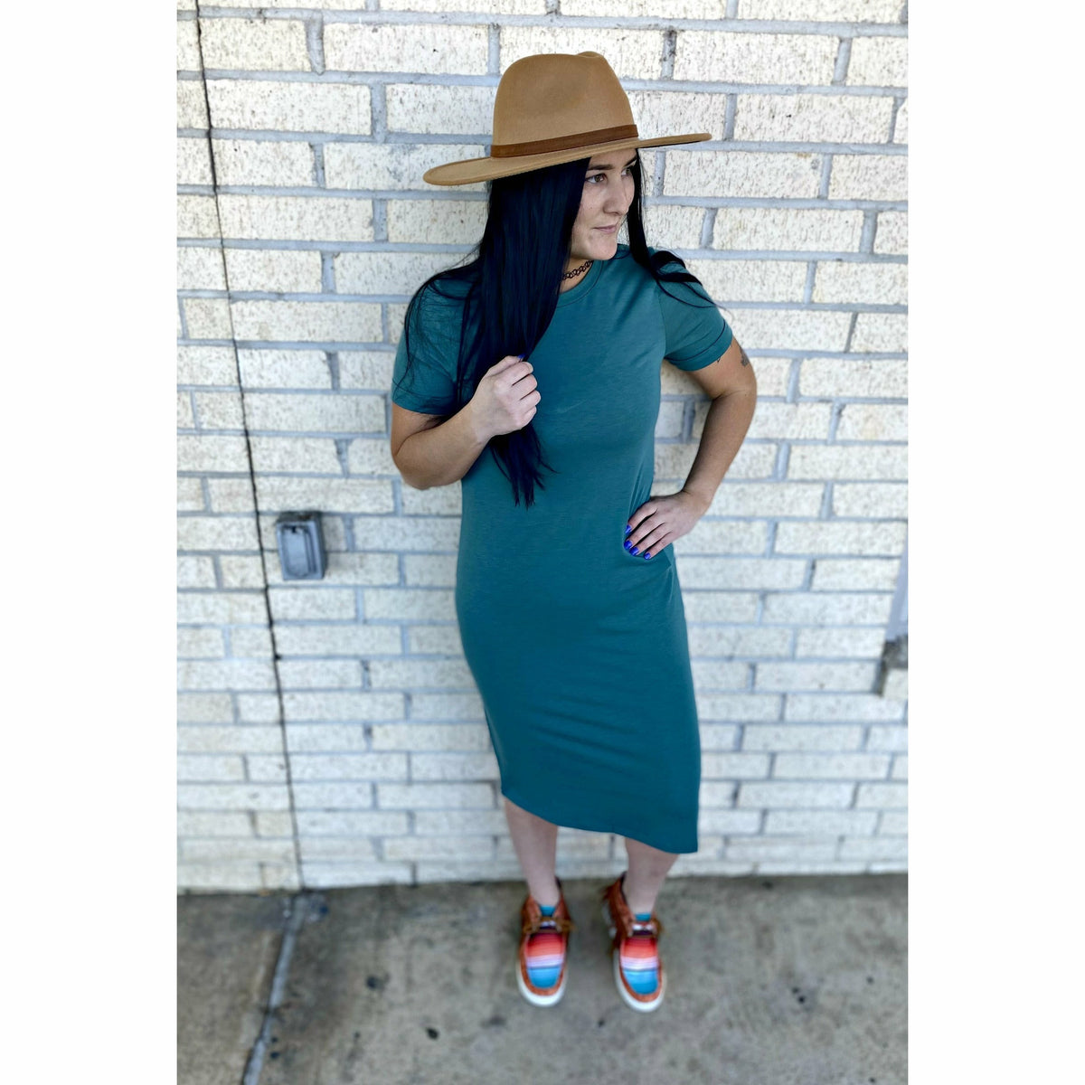 Ocean Eyes Teal Dress