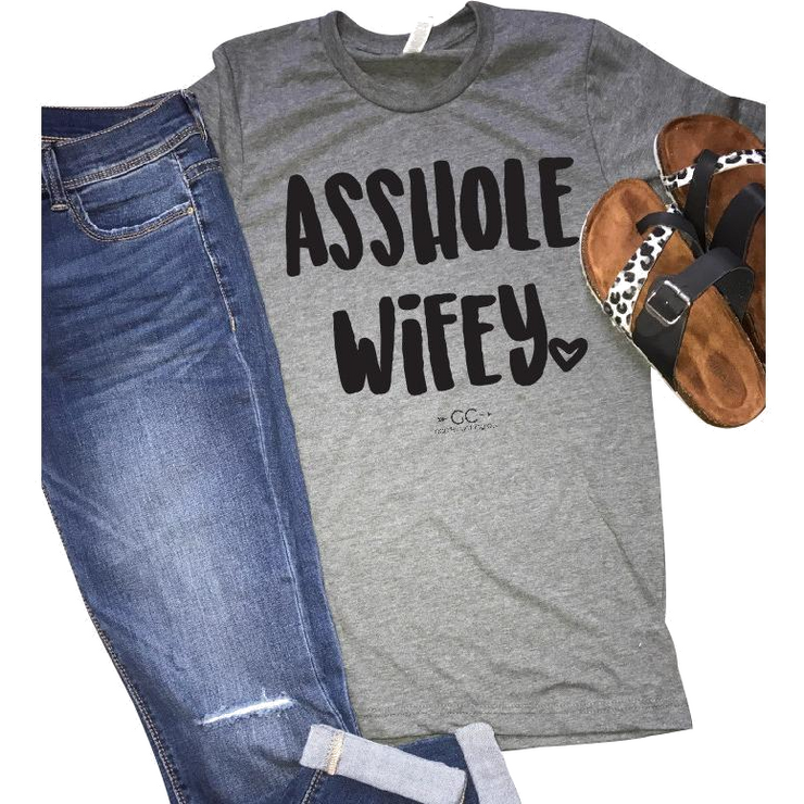 Asshole Wifey (colors) tee - Gabriel Clothing Company