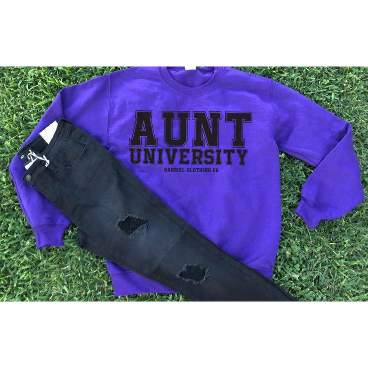 Aunt University™ Sweatshirt (black ink) - Gabriel Clothing Company