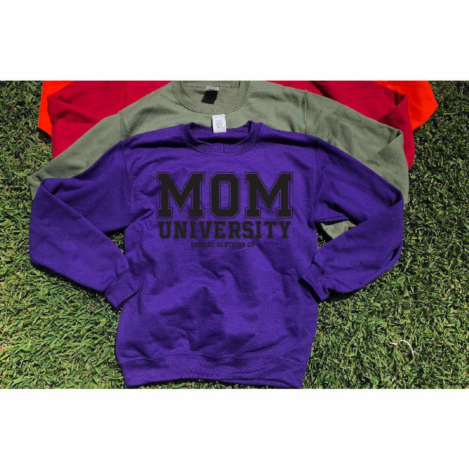 Mom University™ Sweatshirt (black ink)