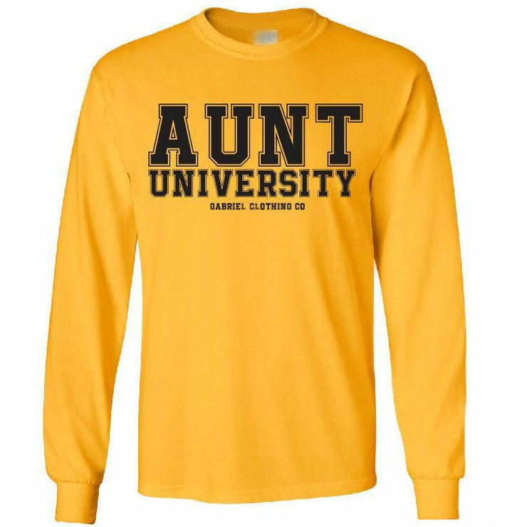 Aunt University™ Long Sleeve (black ink) - Gabriel Clothing Company