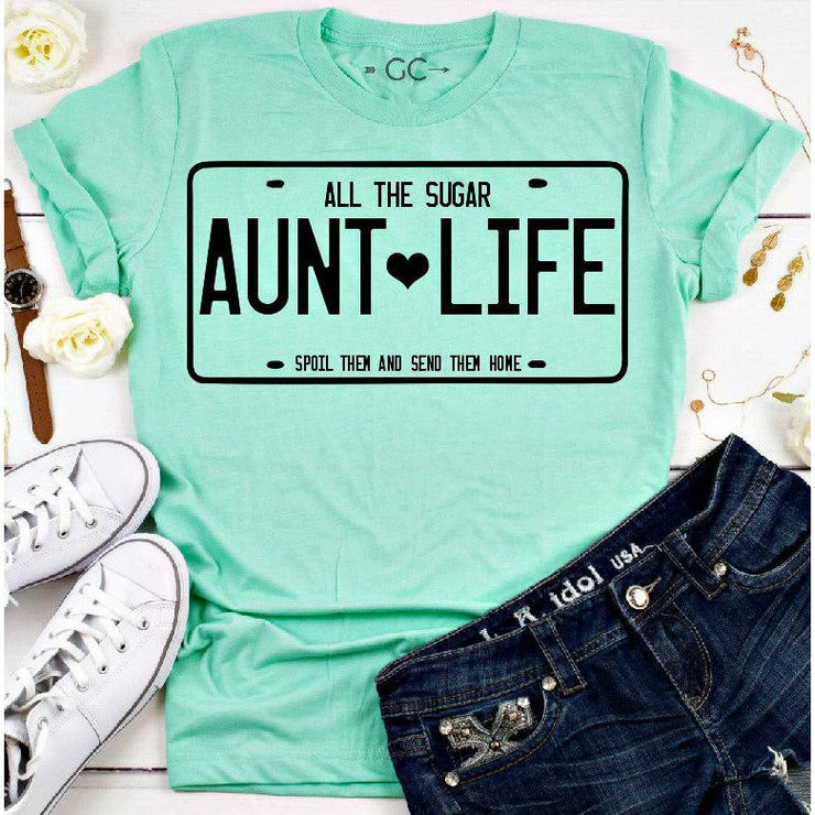 Aunt life license plate