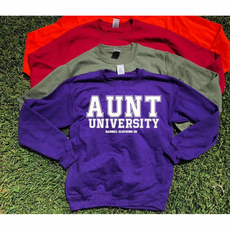 Aunt University™ Sweatshirt (white ink) - Gabriel Clothing Company