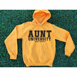 Aunt University™ Hoodie (Black ink) - Gabriel Clothing Company