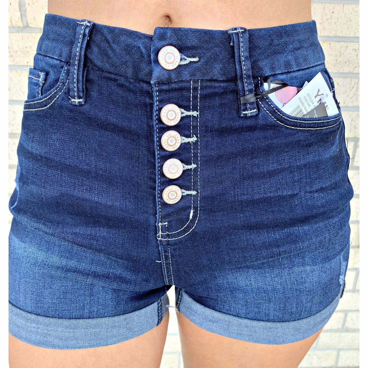 Katie Dark Denim YMI Shorts