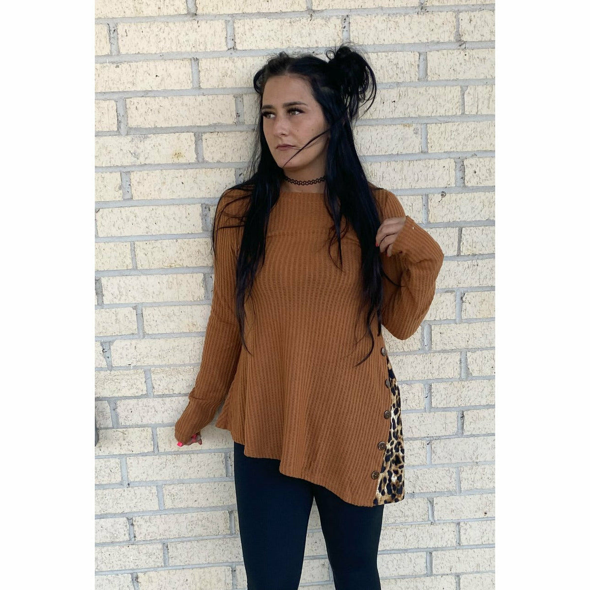 Pumpkin Patch Asymmetrical top