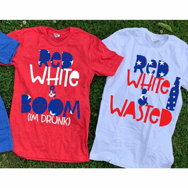 Red White & Wasted/ Red White Boom Tee