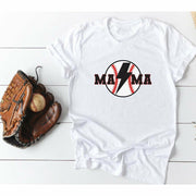 baseball bolt Mama tee or tank top