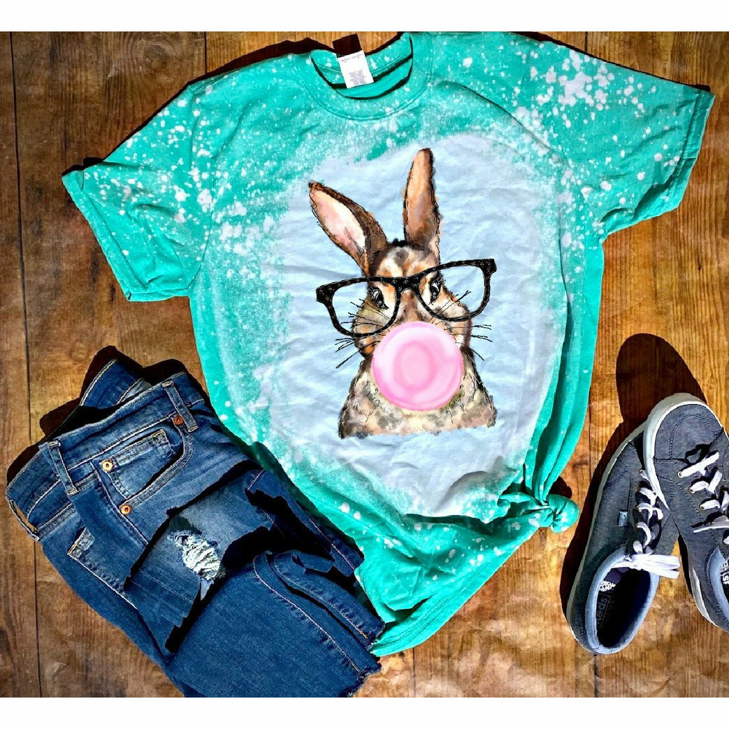 Bubble Blowing Bunny Tee