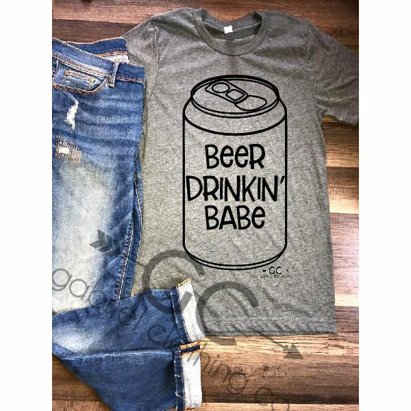 Beer Drinkin' Babe tee - Gabriel Clothing Company