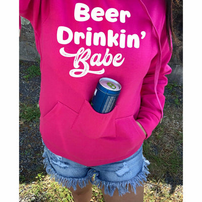 PRE-ORDER* Pink Beer Drinkin' Babe Bottle Holder Hoodie