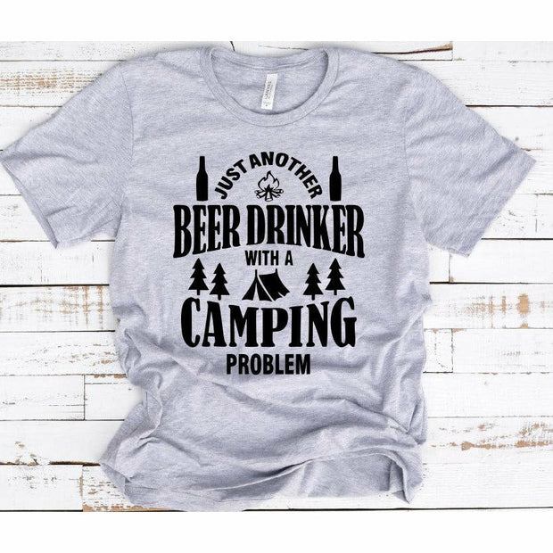 Beer Drinker with a Camping problem tee