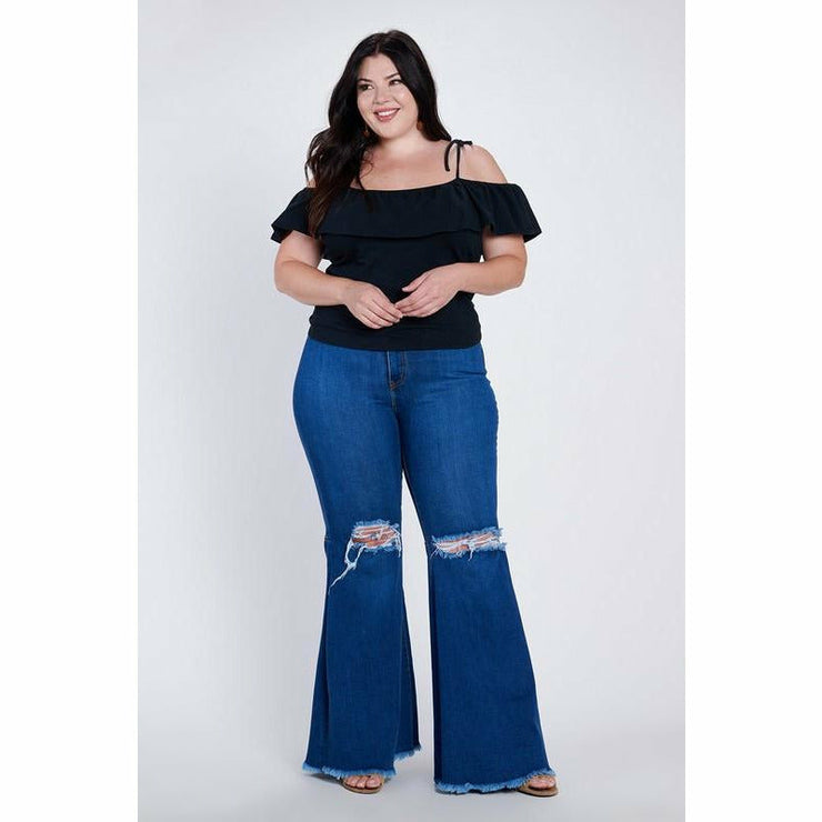 Plus Size Dark Wash New Bells PRE-ORDER