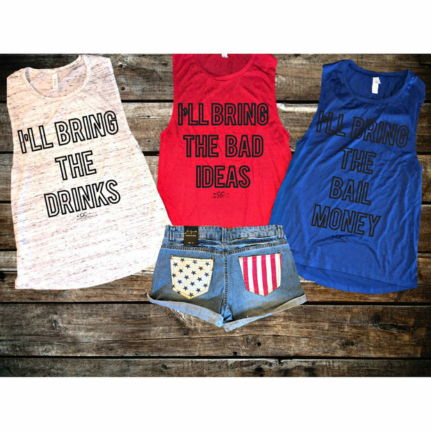I'll Bring the Bail Money Tank/Tee - Gabriel Clothing Company