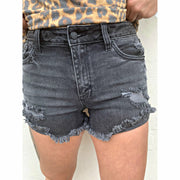 Black Diva denim shorts