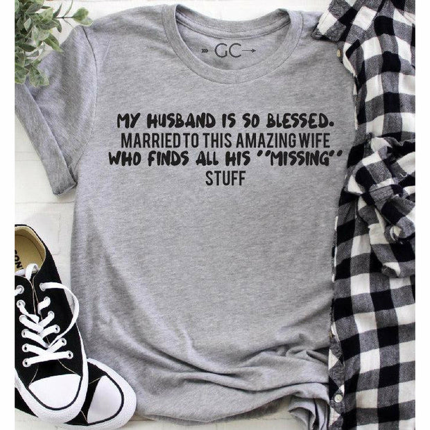husband is so blessed tee