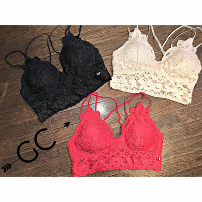 Lace Bralettes (each sold separately)