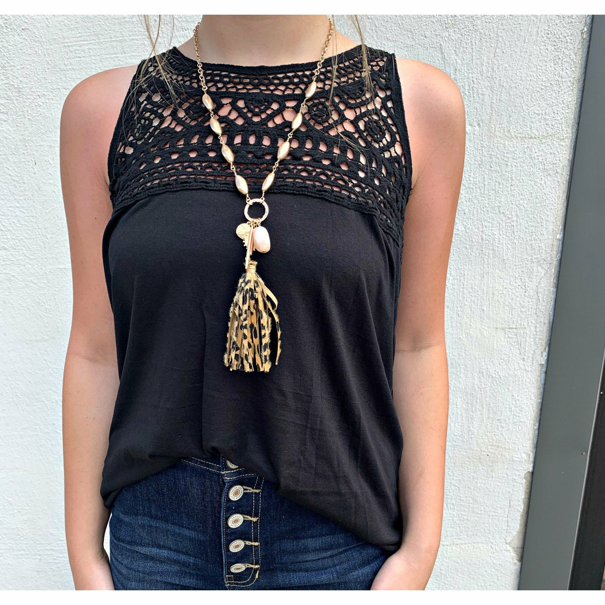Crochet Black Boutique t-a-n-k