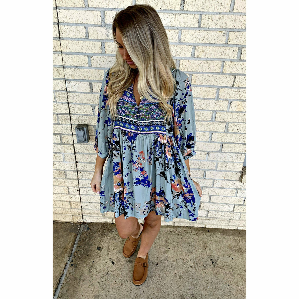 Faith Floral Print Dress