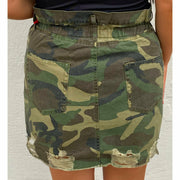 Take me out Camo Stretch Skirt