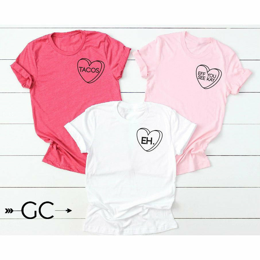 Candy Heart Shirt (customize your own)