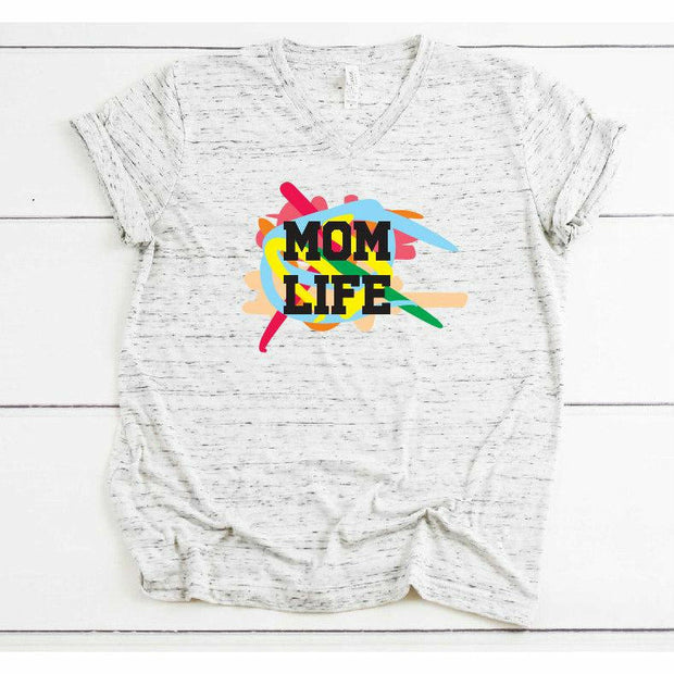scribble mom life tee or tank