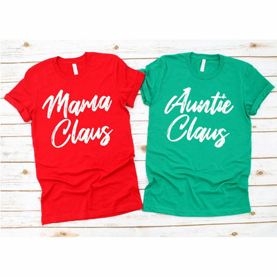Mama or Auntie Claus tee/long sleeve